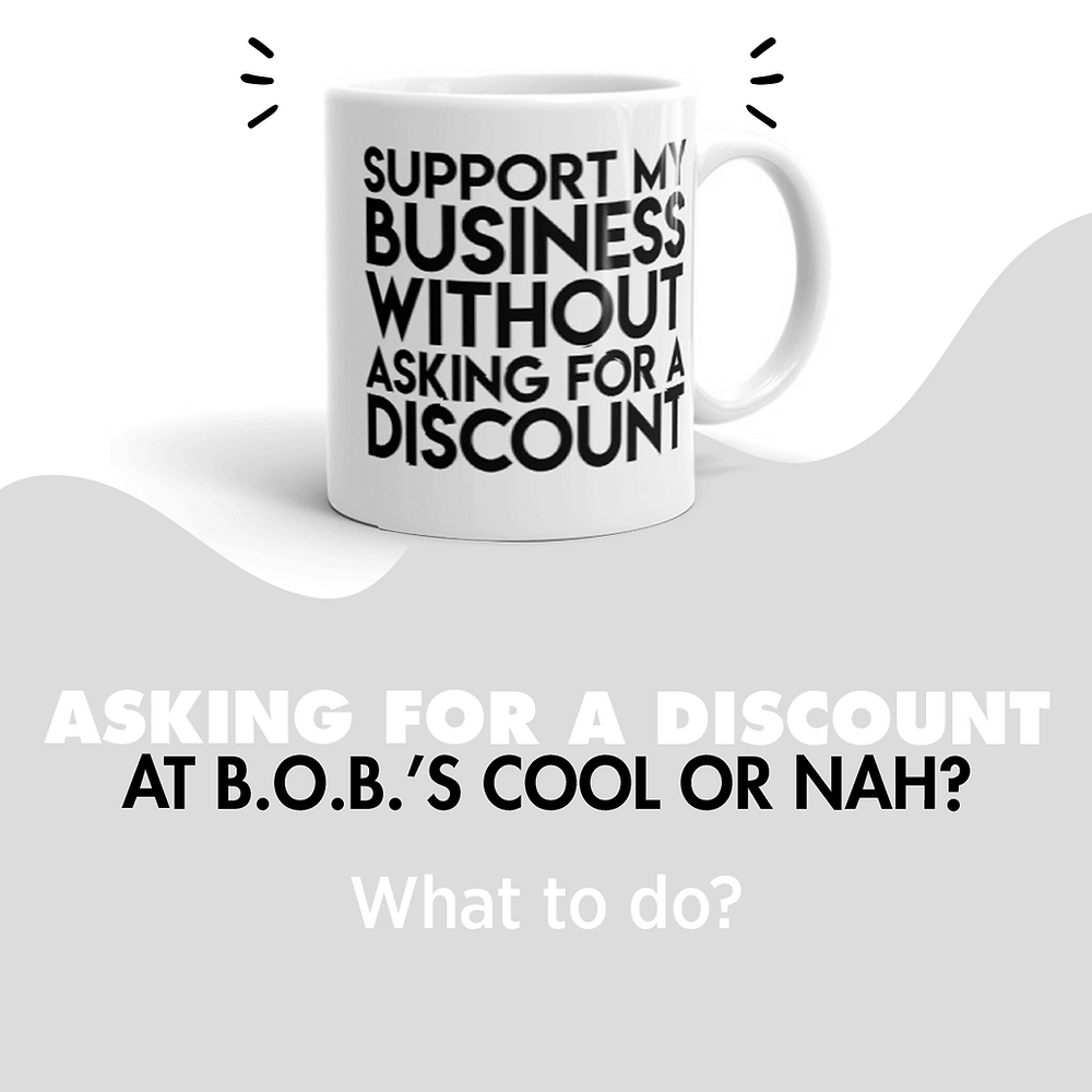 Support my business without asking for a discount mug