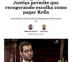JOTA - Justiça permite que recuperando escolha como pagar Refis