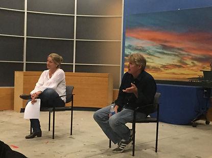 Sheryl Lee and Gary Hershberger teaching