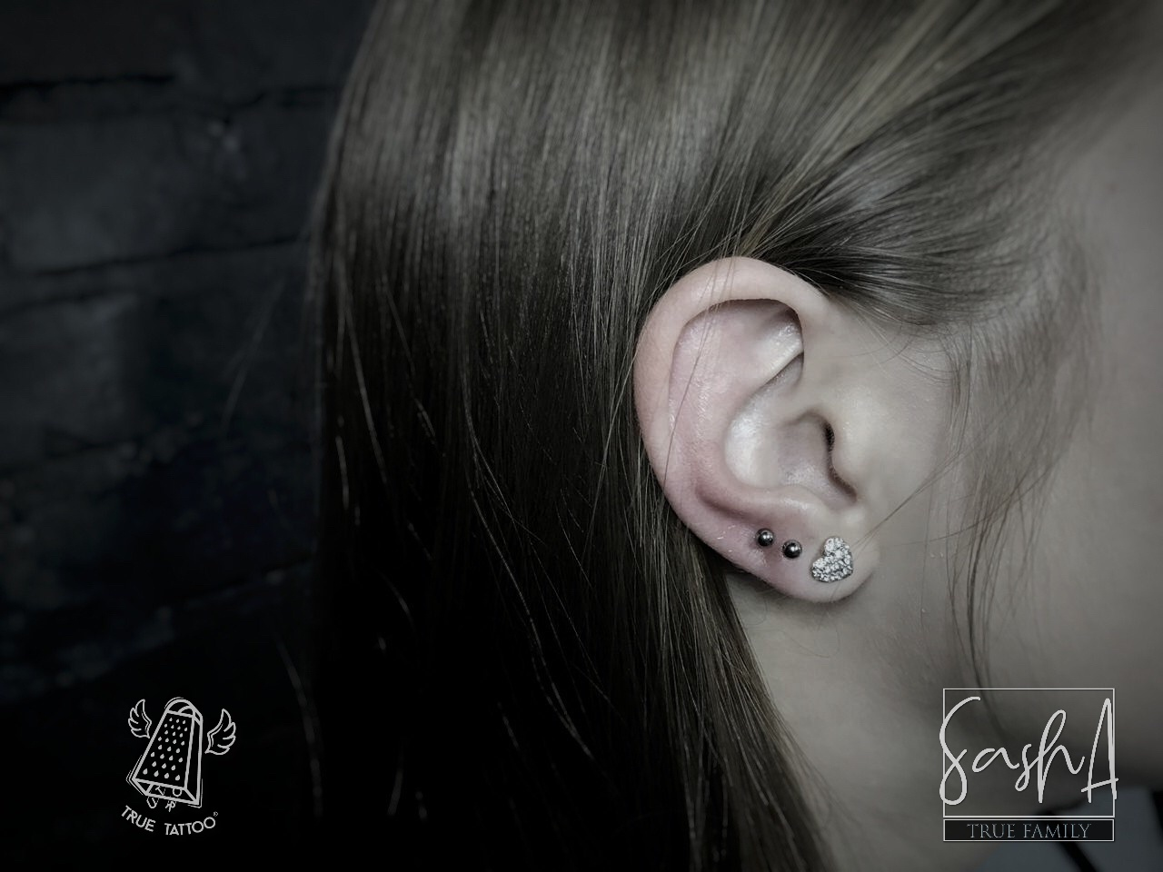 тройной прокол уха