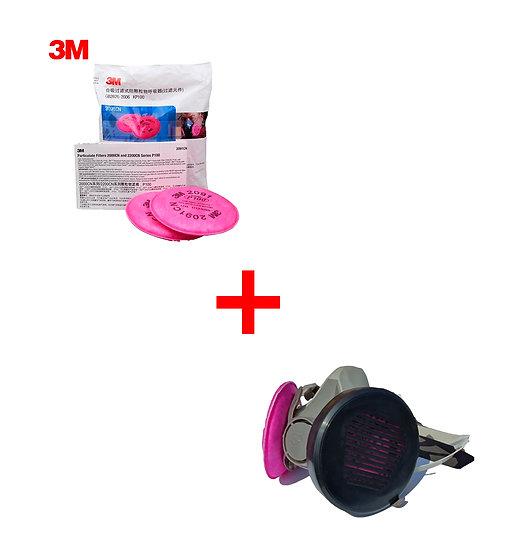 Filtros 2091 2097 P100 Para Mascarilla 6200 6800 + Capsulas*