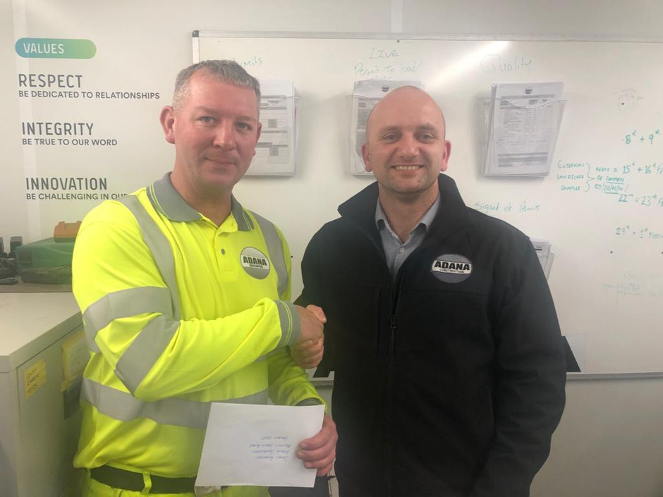 Monthly Safety Award