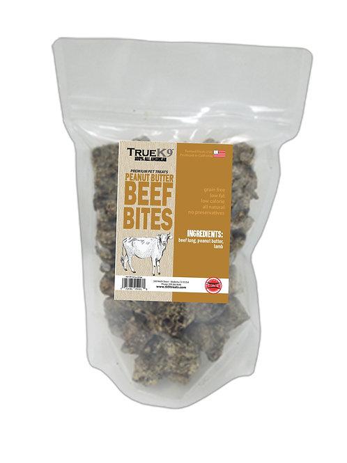 True K9 Peanut Butter Beef Lung Bites 8 oz