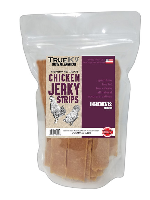 True K9 Chicken Jerky Strips 8 oz