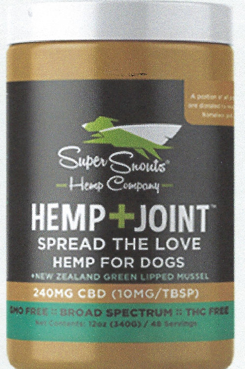 Nutty Dog 12 oz Jar / Hemp + Joint CBD Peanut Butter