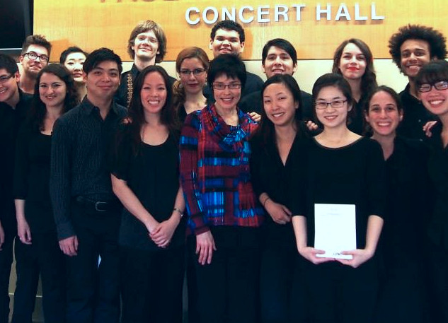After the studio class concert at UNT
