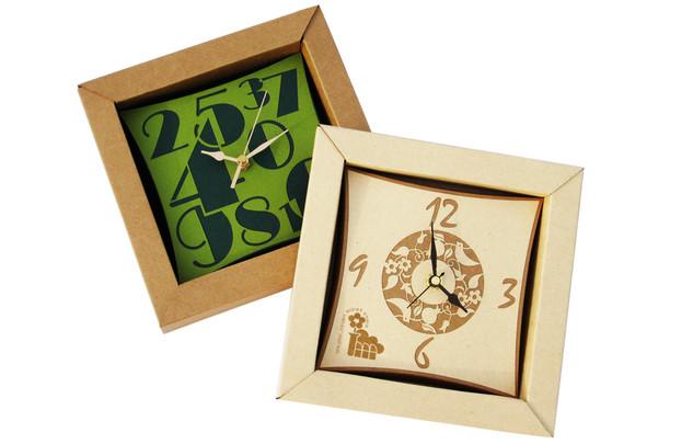 שעונים מנייר ממוחזר בחיתוך לייזר