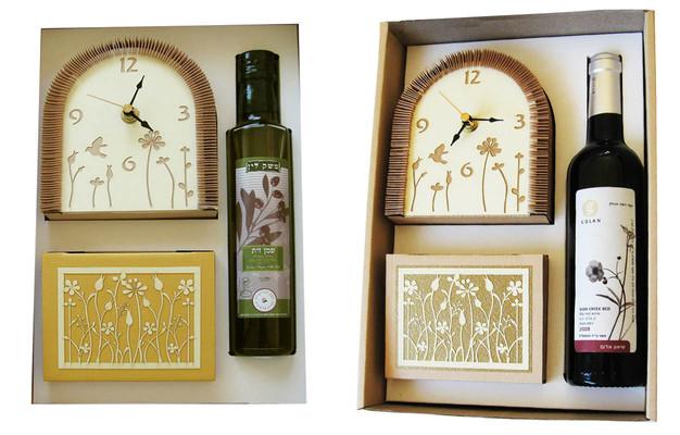 מארז שעון תיבה ממו מניפה ויין או שמן זית