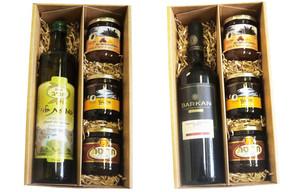 מארז יין או שמן זית חרוסת סילאן וממרח תמרים.jpg