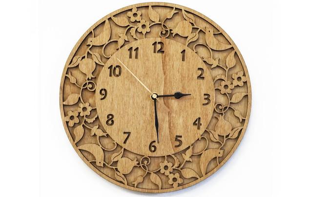 שעון רימונים וצפורים