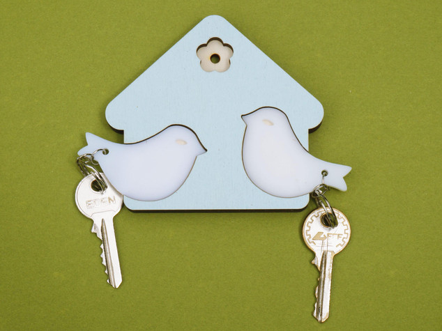 מתלה מפתחות בית ציפורים