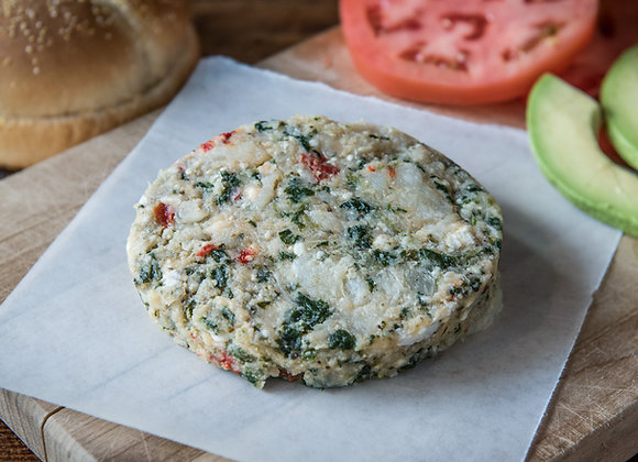Halibut, Spinach, & Feta Burger