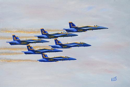 Blue Angels Flyover Graduation - Annapolis, Maryland