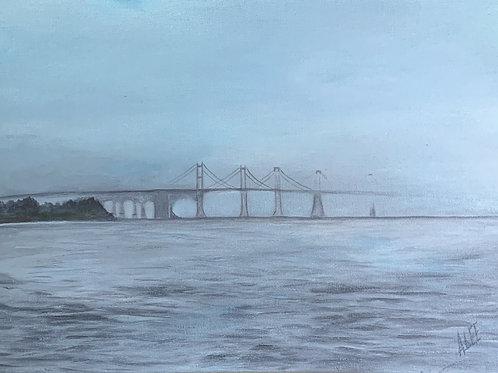 Bay Bridge Foggy Day - Annapolis, Maryland