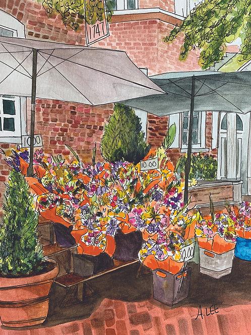 Flower Market Under the Umbrellas - at Reynolds Tavern