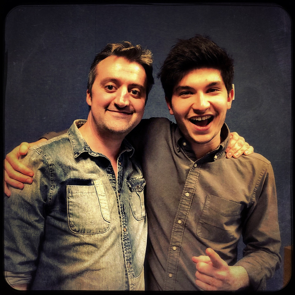 Myself and Lucas Yeoman's at BBC Stoke.