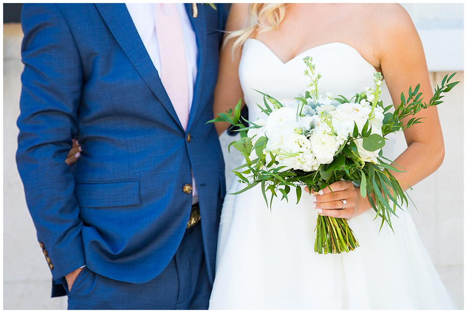 Kenzie + Brent || Classic, Southern, Navy Blue + Blush Gold Bug Island Wedding