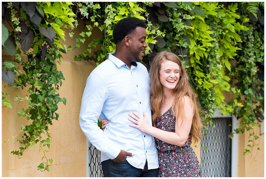 Florence + Shawn || Colorful Downtown Charleston + Hampton Park Engagement Session