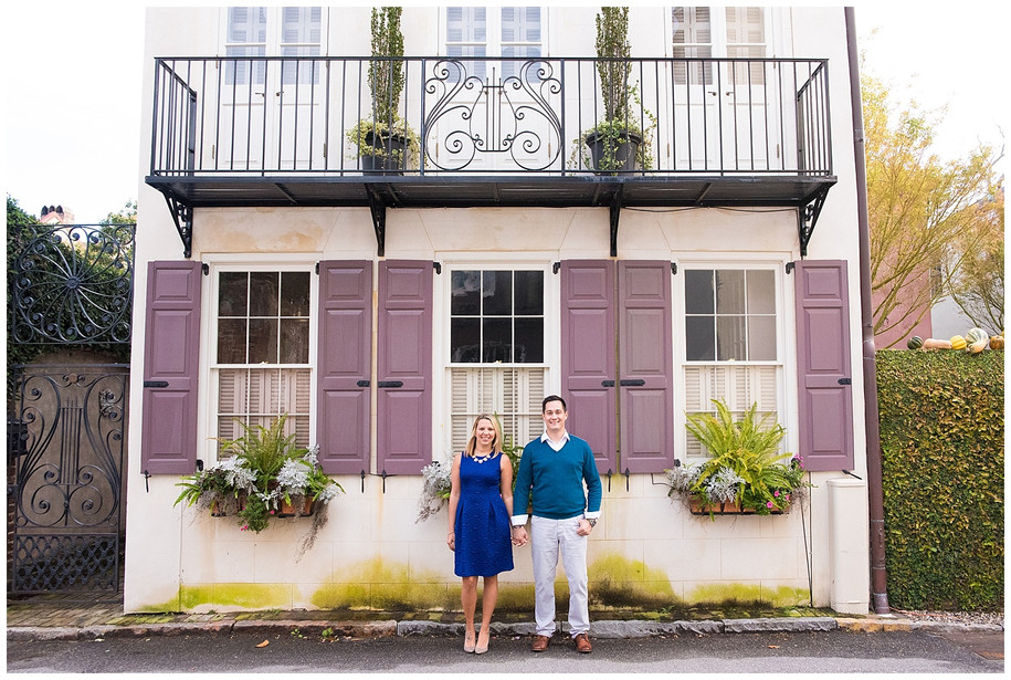 Megan + Michael || Colorful Downtown Charleston Engagement Session
