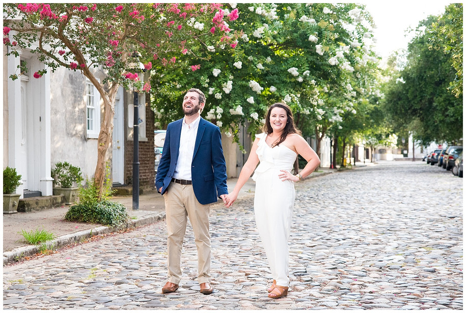 Sarah + John || Classic Summertime Downtown Charleston Engagement Session