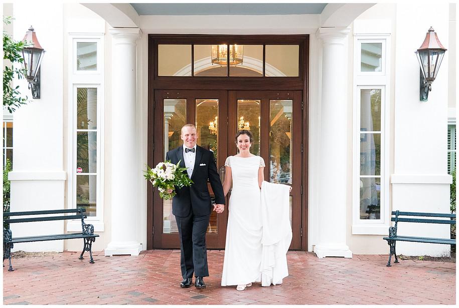 Anna + William || Elegant Navy + Greenery Country Club of Charleston Wedding