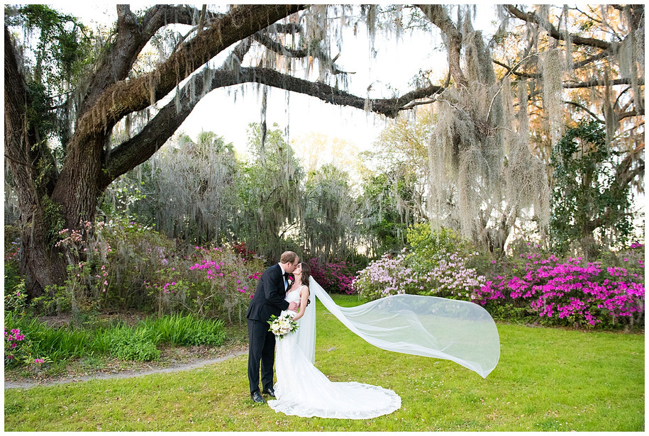 Rebecca + Carter || Elegant Desert Rose + Greenery Spring Magnolia Plantation Wedding