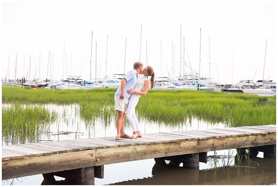 Caroline + Gavin || Fun Downtown Charleston + City Marina Engagement Session