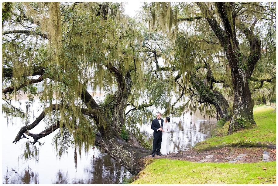 Amanda + Justin || Dreamy Fall Magnolia Plantation Engagement Session