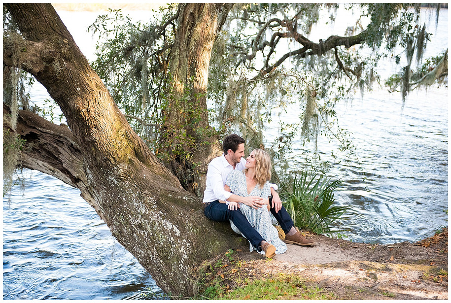 Katie + Dane || Beautiful Fall Magnolia Plantation Engagement Session
