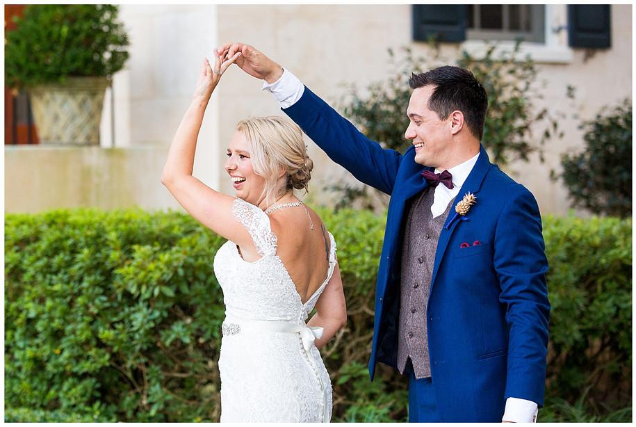 Megan + Michael || Classic Fall Burgandy + Navy Alhambra Hall Wedding