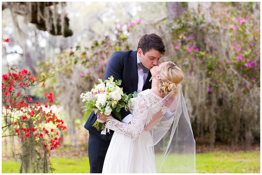 Emily + Chris || Pastel + Greenery Springtime Magnolia Plantation Wedding