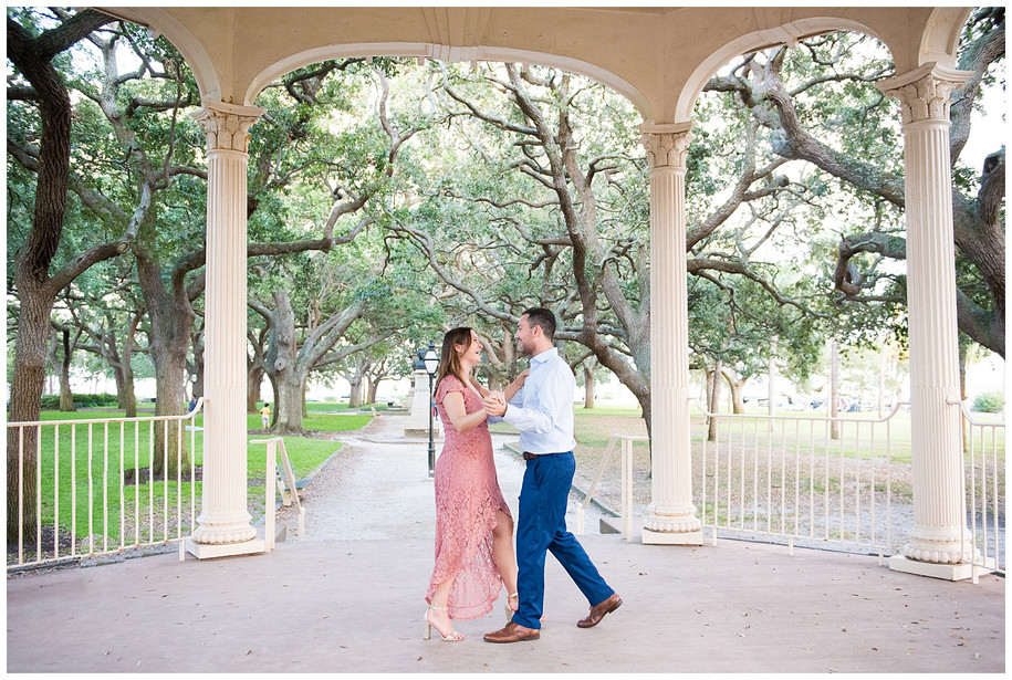 Alexa + Bo || Colorful + Fun Downtown Charleston Engagement Session