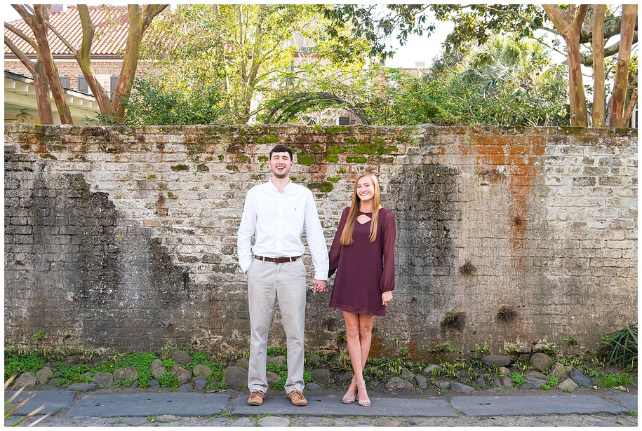 Brooke + Marshall || Downtown Charleston + Pitt Street Bridge Engagement Session