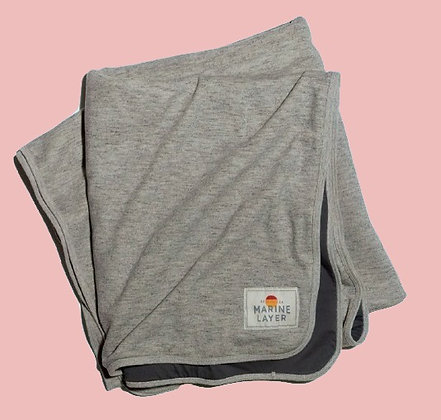 Lined Blanket - Heather Grey - 50in x 72in