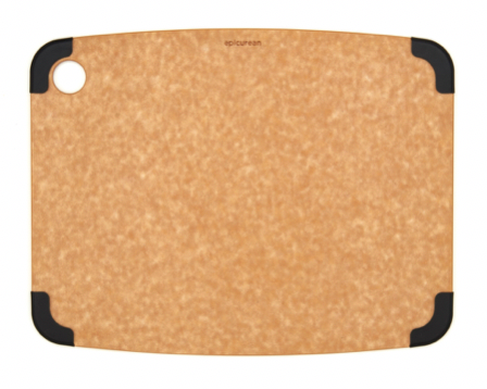 "Epicurean Non-Slip Cutting Board – Natural/Slate Colored Corners - 11.5"" x 9"""