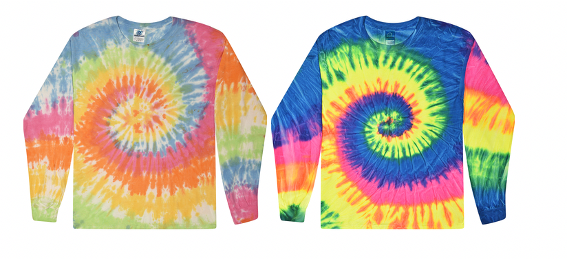Colortone Tie-Dye Long Sleeve Shirt