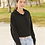 Thumbnail: Independent Trading Co. Women's Lightweight Cropped Hooded Sweatshirt