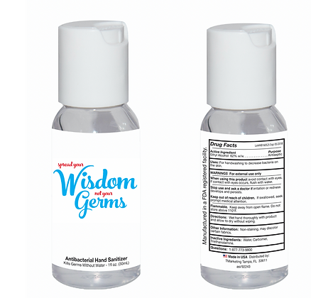 Antibacterial Hand Sanitizer - 1 oz - Made in the USA