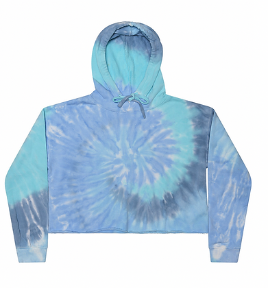 Colortone Lagoon Cropped Top Hoodie