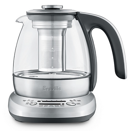 Breville Smart Tea Infuser Compact Silver Tea Maker