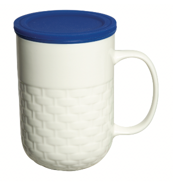 440 ml. (15 fl. Oz.) Colombo Porcelain Mug with Tea Strainer
