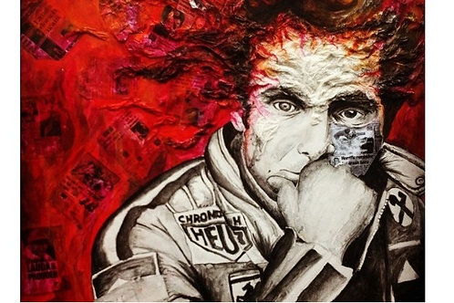 Niki Lauda Mixed Media Painting