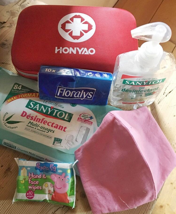 'Our nannies now carry hand sanitiser, a cotton mask & disinfectant wipes.'