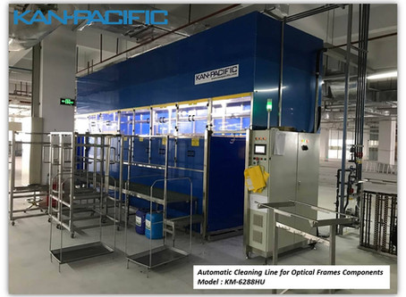 New Automatic cleaning lines for optical frames components - Dongguan, China 新的眼镜架组件自动清洗线 - 中国东莞
