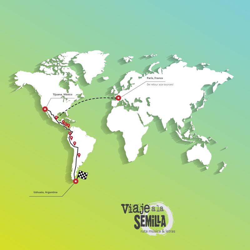 12 países, 12.000 km.