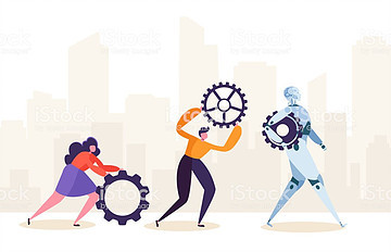 Revolución tecnológica robots trabajo futuro techbloom