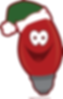 this is an image of a red christmas bulb with a smiley face that sends them to a link to the registration page.