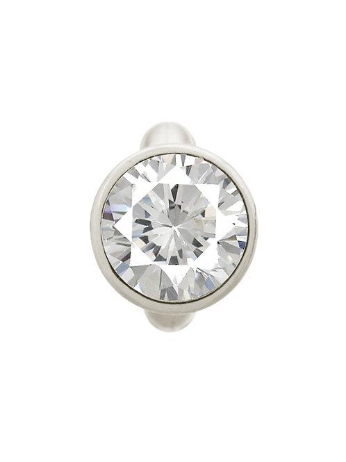 Round White Dome Silver
