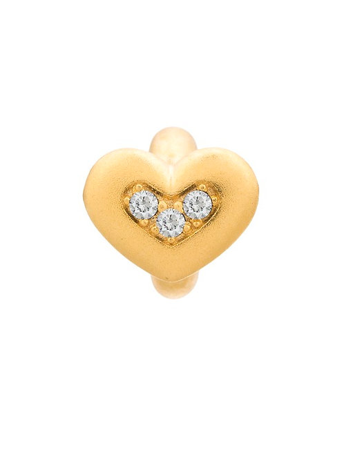 White Triple Love Gold Plated