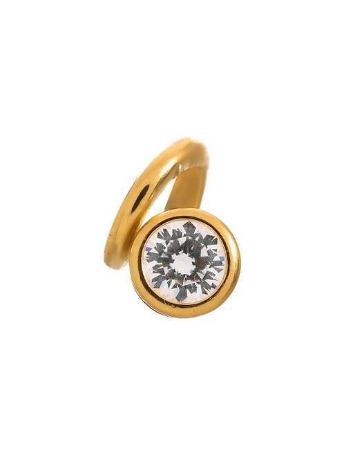 White Spring Gold Plated